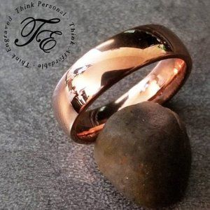 Rose Gold IP Promise Ring or Wedding Band